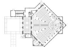 Auditorium Plan, Auditorium Architecture, Auditorium Design, Church Architecture, Architecture Student, Architecture Portfolio, Library Plan, Kindergarten Design, Modern Church