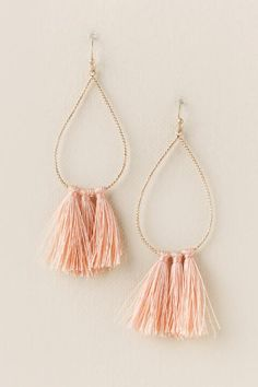 Anita Mini Tassel Earring- Blush