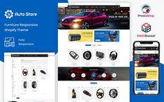 AutoStore - Auto Parts and Equipments PrestaShop 1.7 Templates Ecommerce Website Design, Website Design Layout, Website Design Inspiration, Web Layout, Layout Design, Design Ideas, Learn Web Design, Creative Web Design, Best Website Templates