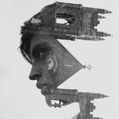 A fotografia de dupla exposição misturando pessoas e paisagens de Marissa Bolen