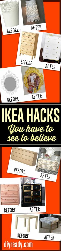 IKEA hack ideas you have to see to believe! Best Ikea hacks for DIY  http://diyready.com/15-amazing-ikea-hacks/ #diy #furniture #diyprojects