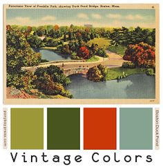 Ponyboy Press - zine maker, design lover, dedicated homebody: Introducing: Vintage Color Palettes