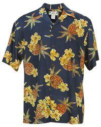 Hale Kahiki Hawaiian Aloha Shirt in Navy, Mens Hawaiian Shirts Clothing, Vintage Hawaiian Shirts, Mens Hawaiian Shirts, Hawaii Shirts, Tropical Outfit, Kimono Shirt, Bowling Shirts, Aloha Shirt, Hawaiian Print, Japanese Kimono