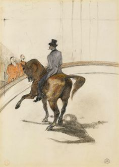 Henri de Toulouse-Lautrec, At the Circus: The Spanish Walk (Au Cirque: Le Pas espagnol), 1899.