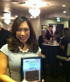 "Congrats to @ABC30 Action News anchor Christine Park. She was named one of the ""40 under 40"" by Business Street online. The  event honored those who achieved great success before the age of 40."