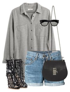 Untitled #8879 by alexsrogers on Polyvore featuring polyvore, fashion, style, Madewell, rag & bone/JEAN, Sophia Webster, Chloé and Yves Saint Laurent