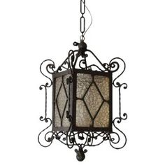 View this item and discover similar for sale at - Single-light vintage black-painted wrought iron lantern from Spain. Lanterns For Sale, Gas Lanterns, Wooden Lanterns, How To Make Lanterns, Hanging Lanterns, Copper Lantern, Vintage Lanterns, Moroccan Lanterns, Curved Glass