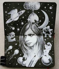 Lidia Barragán  #sketch #doodle #sketchbook #moleskine #drawing #dibujo #cuaderno #lapiz #pencil #ink #imagination