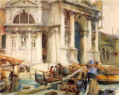 John Singer Sargent. Santa Maria della Salute - 1904. Watercolor on Paper - Brookyln Museum of Art - New York