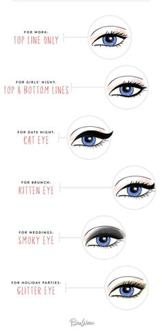 This eyeliner guide will help you switch up your look from day to night: