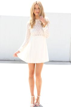 pearl lace dress - sabo skirt