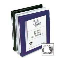 "D-Ring Frame View Binder,1"" Capacity,11""x8-1/2"",Navy Blue, $11.91, Pg 262 / A #:AVE-68055"