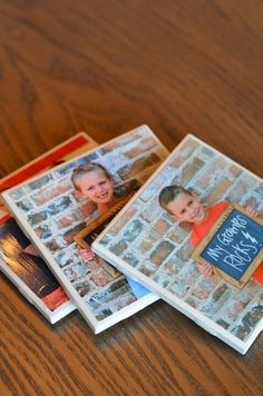 Easy DIY Father's Day gifts you can make with your students OR for home! Just Mod Podge a picture onto a porcelain tile..easy coaster or paper weight!