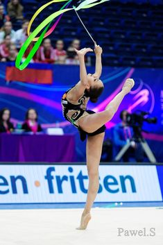 Margarita Mamun (Russia) won bronze in ribbon finals at Grand Prix, Holon, 2015
