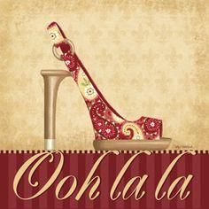 Ooh La La Shoe I Art Print