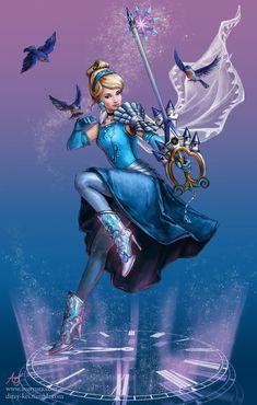 Furafura Disney Stroke of Midnight - Cinderella Disney Princess Warriors, Disney Princess Art, Warrior Princess, Disney Fan Art, Cute Disney, Disney Girls, Cinderella Disney, Disney Amor, Disney Magic