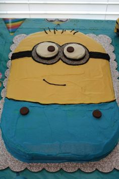 Minion birthday cake.