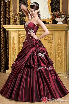 ball gowns for masquerade ball   Plus Size Masquerade Ball Gowns – BG0435 Burgundy Princess Strapless ...