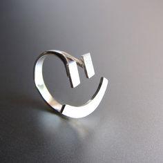 blij gezicht ring =) - zilveren ring - handgemaakt  Dit gelukkige gezicht ring is handgemaakt van sterling zilver, niet alleen verzilverd. blij gezicht zilveren ring is een van mijn meest...