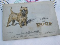Cigarette Card Album Dogs, vintage Album Dogs, Tobacciana, Wills Cigarette Cards…
