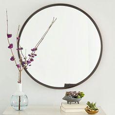 "West Elm Metal Framed Round Wall Mirror. $199. 30"" diameter"
