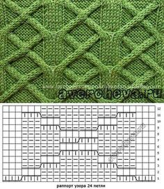 Diy Crafts - This Pin was discovered by Fat Cable Knitting Patterns, Knitting Stiches, Knitting Charts, Lace Knitting, Knitting Designs, Knit Patterns, Crochet Stitches, Stitch Patterns, Knitting Needles