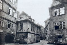 More than 150 houses, 4 streets and 2 unique synagogues disappeared in century during the huge Clearance of the Jewish City Prague Cz, Prague Old Town, 4th Street, Street View, Vintage Pictures, More Pictures, Frankenstein, Jewish Ghetto, The Golem