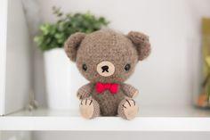 Free crochet pattern Valentine's day teddy bear