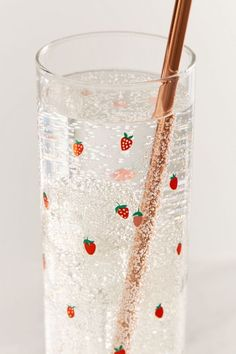 Shop Strawberry Juice Glass at Urban Outfitters today. Strawberry Kitchen, Strawberry Juice, Strawberry Fields, Home Decor Accessories, Decorative Accessories, Kitchen Accessories, Neue Outfits, Cute Kitchen, Kitchen Decor