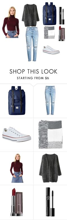 """""""Fall Essentials"""" by mlindsey-ii ❤ liked on Polyvore featuring Herschel Supply Co., H&M, Converse, Topshop, Acne Studios, Maybelline and Christian Dior"""