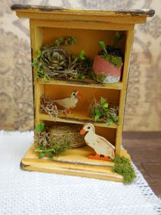 ooak miniature dollhouse country style shelf  by Mosswayminiatures