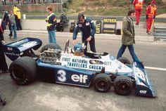 Ronnie Peterson (SWE) & Ken Tyrrell, Tyrrell P34 Zolder, 1977.