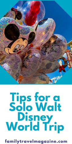 It can be so much fun to visit Walt Disney World solo. A solo trip can be completely different than a family trip, so you'll want to prepare. Here are our tips for a solo Walt Disney World trip. Walt Disney World Vacations, Disney Parks, Disney Time, Solo Trip, Magic Bands, Wine Festival, Disney Springs, Epcot, World Traveler