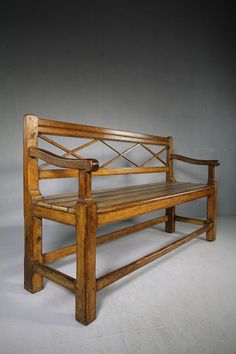 Lower Price with Early 20th C Teak Bench With Distressed Flaking Paint 1900-1950 Benches & Stools