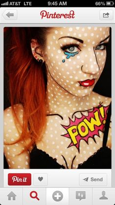 This is the makeup I am planning on doing for Halloween. I plan on being a pop art comic book character.