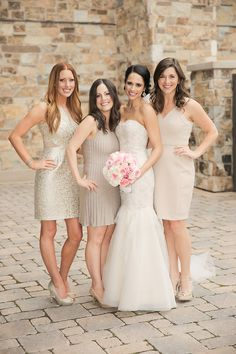 Gold Bridesmaids Dresses | photography by http://www.pepper-nix.com/