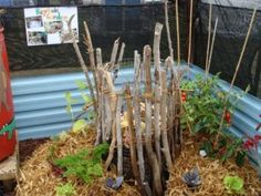 DIY Keyhole Garden - made with local materials
