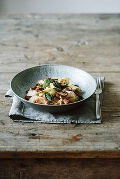 Pumpkin Tortellini with Mushrooms