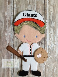 Take Me Out To the Ball Game Felt Un Paper by NettiesNeedlesToo, $6.00
