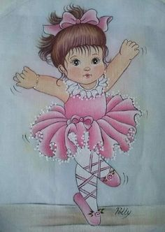 Embroidery Stitches, Embroidery Patterns, Ballerina Dancing, Baby Drawing, Baby Cartoon, Baby Art, Disney Tattoos, Baby Prints, Painting Patterns