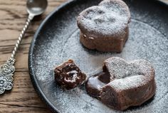 This vegan and gluten free Easy Molten Chocolate Lava Cake recipe will impress your dinner guests or special someone with their beautiful heart shape and warm gooey center! With only 10 ingredients and 30 minutes to prep and cook, you'll have a simple yet elegant dessert in no time.