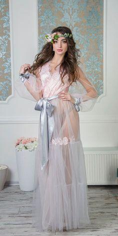 NEW Augustine bridal robe Style stunning bridal boudoir Honeymoon Lingerie, Wedding Lingerie, Bridal Robes, Sensual, Night Gown, Beauty Women, Lingerie Models, Luxury Lingerie, Tulle