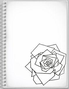 My Geometric Rose Drawing - Yesenia Torres