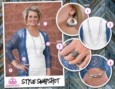 { Style Snapshot } GIVEAWAY! For an easy cohesive look, find similar shapes and textures. The rounded edges found throughout this set are perfect together!   Want to win this set of accessories? Find this post on the Paparazzi Accessories FB page. React to this photo and then comment telling us your favorite movie! We'll select a random winner on Monday, September 12th at 11:00 AM MT. Good luck!  Shop www.kymper.com