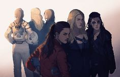 The 100 fanart - The Golden Trio || Ladies of The 100 || Raven Reyes, Clarke Griffin, Octavia Blake || Lindsey Morgan, Eliza Jane Taylor, Marie Avgeropoulos