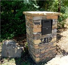 Sandstone Lamps from Canada - StoneContact.com Natural Stone Veneer, Natural Stones, Outdoor Gazebos, Outdoor Decor, Stone Mailbox, Types Of Saws, Gate Post, Column Design, Brick And Stone