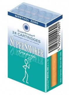 SuperSmoker Filterkartusche für e-Zigarette Geschmack Menthol 0,0 Nikotin