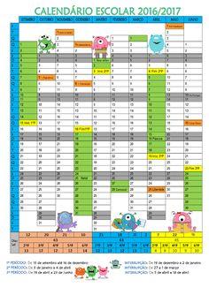Cantinho do Primeiro Ciclo: Calendário com tema dos monstrinhos… … …