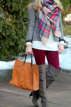 I do deClaire: Marsala Leggings and Blazer
