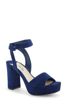 Qupid Open Toe Wrap Platform Chunky Heel  Toe Platform and Wraps